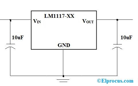LM1117 circuit diagram
