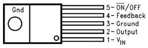 LM2576 Voltage Regulator Pin Configuration