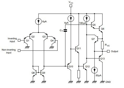 LM2904 IC Circuit Diagram