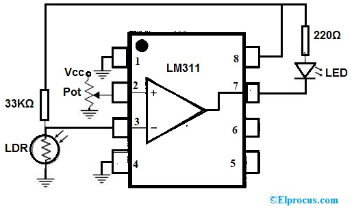 LM311 IC Circuit Diagram