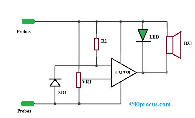 LM339 IC Voltage Comparator Circuit