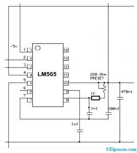LM565 IC Circuit Diagram