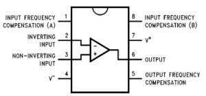 LM709 IC Pin Configuration