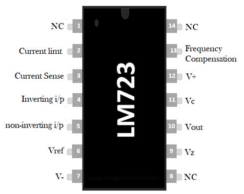 LM723 Pin Diagram
