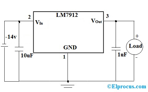 LM7912 circuit diagram