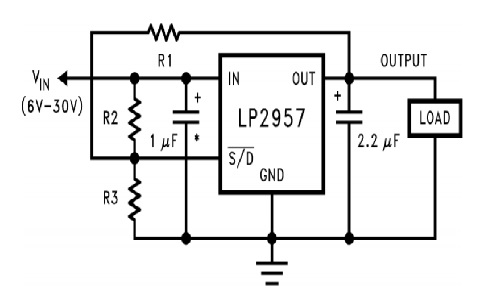LP2957 snap-in and snap-out operation