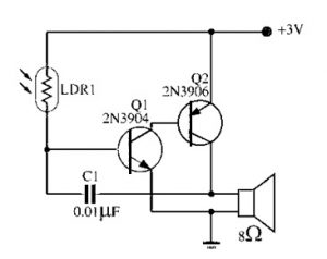 Light Sensitivity Metronome Simple Electronic Circuit
