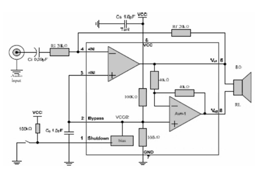 MD8002A Audio Amplifier Circuit