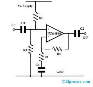 NJM4560 Dual Op-Amp Circuit