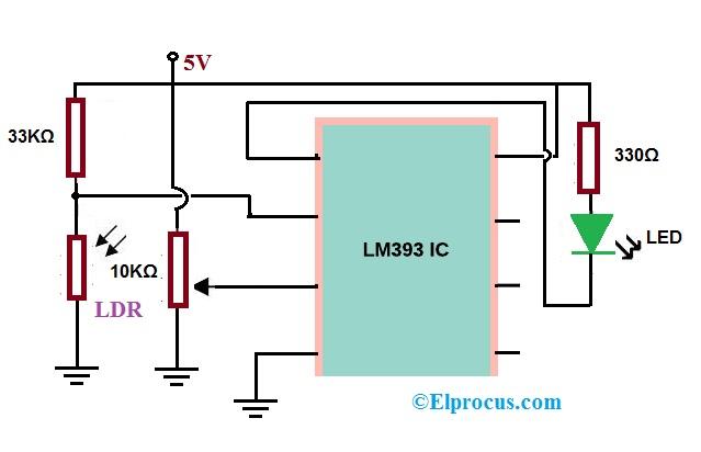 Night Light Circuit using LM393