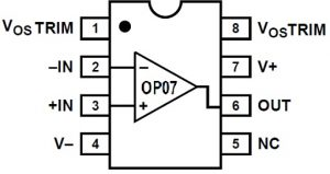OP07 IC Pin Configuration