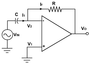Operational Amplifier Differentiator Circuit