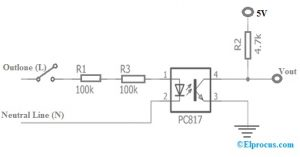 PC817 Optocoupler Circuit Diagram