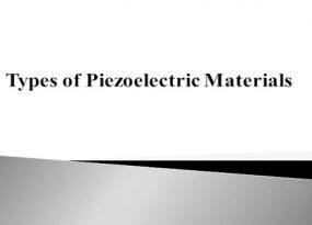 Piezo Electric Materials