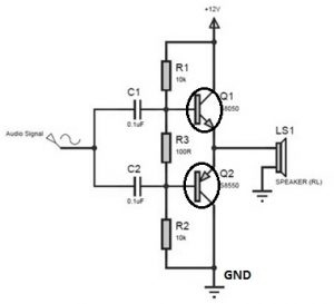 Push Pull Circuit Diagram