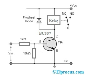 Relay Switch Circuit using BC337 Transistor