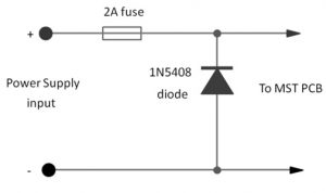 Reverse Polarity Protection Circuit with 1N5408 Diode