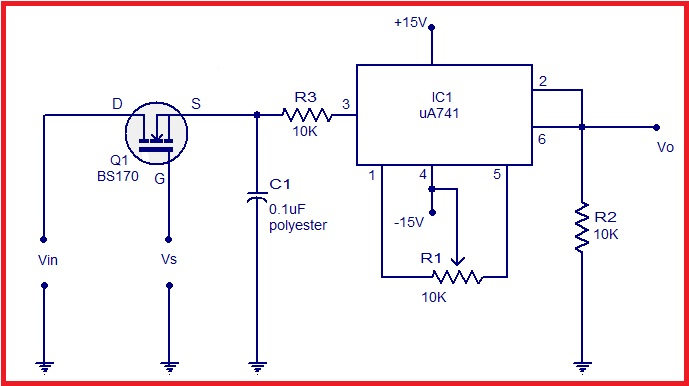 Sample and Hold Circuit using Op-Amp