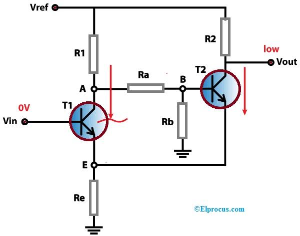 Schmitt Trigger using Transistors