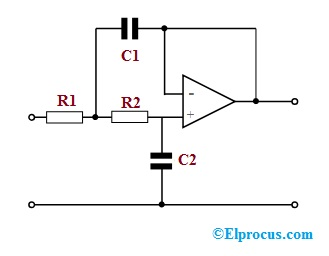 Second Order Active LPF Circuit using Op-Amp