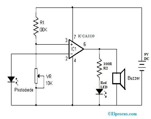 Shadow Circuit using CA3130 Op-Amp