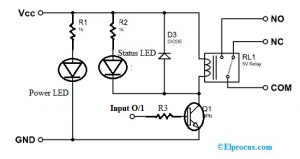 Single Channel Relay Module Circuit