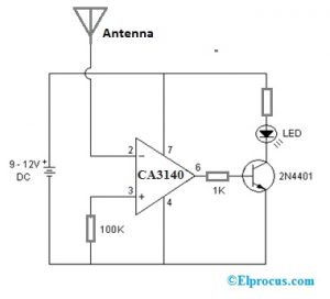 Static Electricity Detection with CA3140 BiMOS Op-Amp
