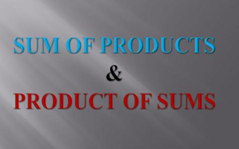 Sum of Products (SOP) and Product of Sums (POS) Expressions