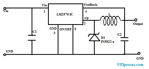 Switching Regulator with LM2576 IC