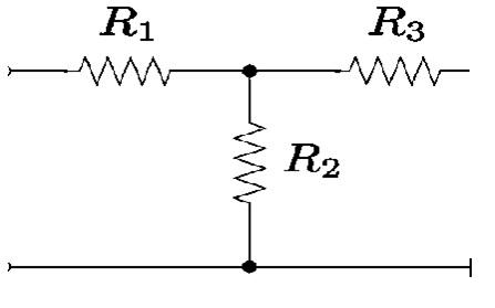 T configuration Attenuator
