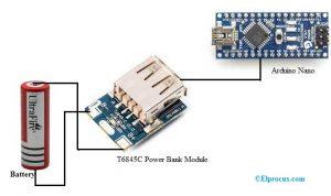T6845C Module to Arduino Nano