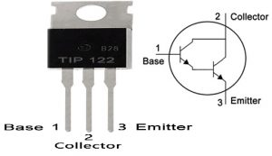 TIP122 Pin Configuration & Symbol