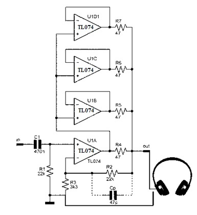 TL074 Operational Amplifier Circuit