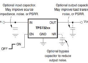 TPS732 fixed voltage model circuit