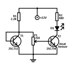 Temperature Monitor Simple Electronic Circuit