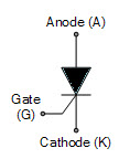 Thyristor Symbol