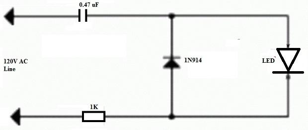 Transformerless Circuit Diagram for LED Driver