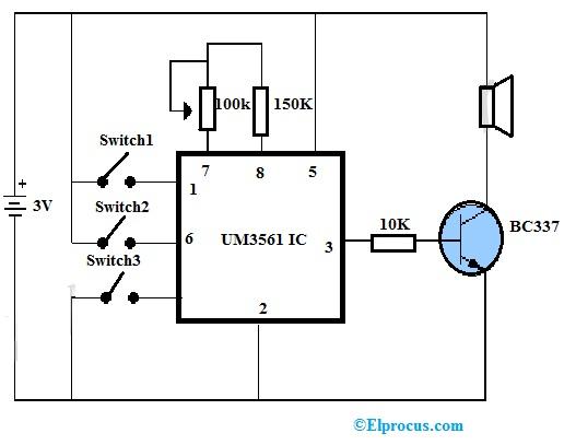 UM3561 Circuit Diagram