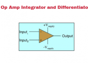 Op Amp Integrator and Op Amp Differentiator