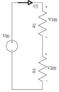 Voltage Divider Rule using Two Resistors