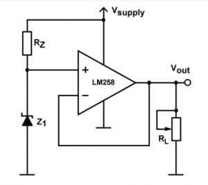Voltage Reference Circuit with LM258 IC