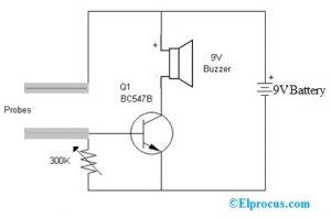 Water Level Circuit using Buzzer