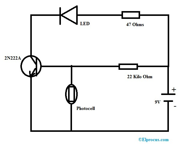 dark-sensing-circuit-using-photocell