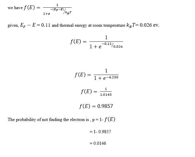 Fermi Dirac Distribution Problem