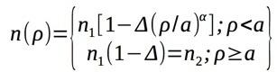 Graded Index Fiber Formula