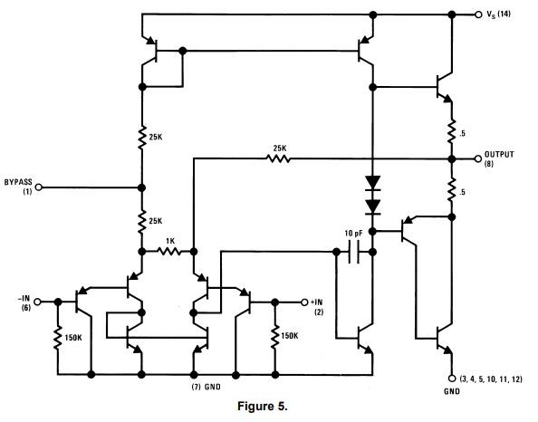 Circuit-Diagram-of LM380-Audio-Amplifier