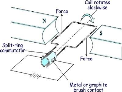 Motor Effect on Coil