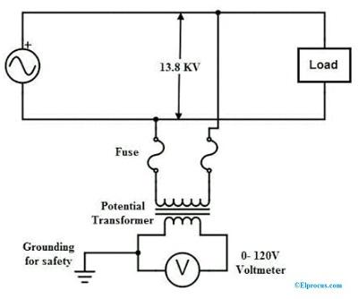 Potential Transformer Circuit Diagram