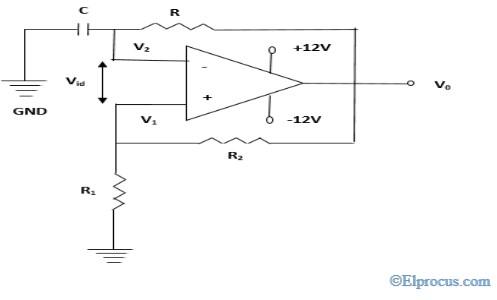 Square Wave Generator Circuit using Op-Amp