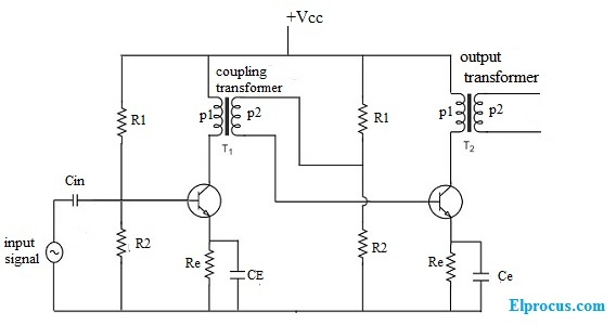 Transformer Coupled Amplifier   Circuit Diagram  Working  And Applications